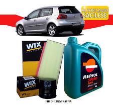 KIT TAGLIANDO VW GOLF V 1.9 TDI 66/77 kw 04>08 2 FILTRI WIX + OLIO REPSOL 10W40