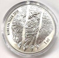 2019 Komsco South Korea Tiger 1 oz Silver Coin Medal .999 BU New In Capsule!