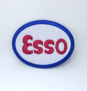 Esso Gasoline Car Iron on Sew on Embroidered Patch