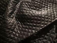 tissu matelassé ouatiné noir, vente au metre
