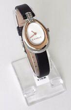 Esprit Damen Uhr Elise schwarz silber gold Leder Steine ES108672002