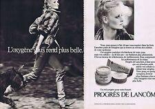 PUBLICITE ADVERTISING 114 1977 LANCOME crème (2 pages) cosmétiques