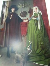Jan Van Eyck Print Giovanni Arnolfini and His Wife Vintage 30029