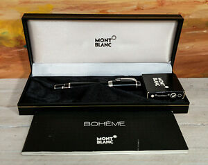 MONTBLANC Boheme Noir Black Gem Stone Fountain Pen