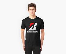 BRIDGESTONE racing car offroad Drift BLACK T-Shirts. WHITE ready. gudal.