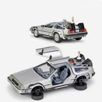 1:24 Back to the Future 2 DeLorean DMC-12 Model Car Diecast Gift Collection Kids