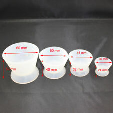 New Dental Lab Silicone Mixing Bowl Cup Acrylic NonStick Dappen Dish 4pcs/set