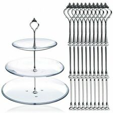 5 Sets 3 Tier Crown Cake Stand Fruit Cake Plate Handle Fitting Rod party wedding