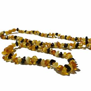 Genuine Amber Jewellery set , Necklace and bracelet / Anklet , Multi Coloured