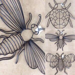 Wandbild Wanddeko Metall Bild Wand Hänger Tier Skulptur Figur Käfer BIENE Hummel