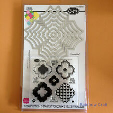 Sizzix Framelits Die Set 7PK with Stamps - Charming