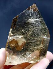 "189.4g Rare NATURAL Hair Rutilated ""stone inside Stone"" Quartz Crystal HEALING"