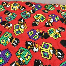 Handmade Baby Bed Quilt Baby Daffy Duck Warner Brothers Red Black