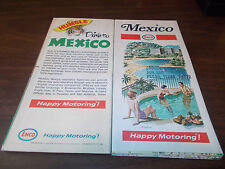 1971/72 Enco Mexico Vintage Road Map / Nice Cover Graphics