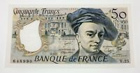 1981 France 50 Francs Note in About Uncirculated Condition Pick #152b