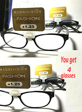 Lot of 4 +1.25 Chantilly Womens Oval Reading Glasses Magnivision Foster Grant