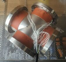 """mdc vacuum 8"""" conflat 4 way cross with uhv bakeout heaters"""