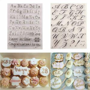 Letter Alphabet Cookie Cutter Embosser Stamp Sticky Decorating Fondant Tools DIY