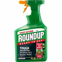 FAST ACTION ROUNDUP READY TO USE TOUGH 1L WEEDKILLER TRIGGER SPRAY BOTTLLES