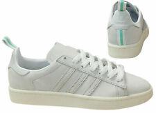 Adidas Originals Campus Suede Mens Lace Up Trainers White BZ0065 B0D
