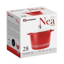 Non Stick Casserole DIE CAST Deep 9 L Casserole Pot en rouge avec couvercle 28 c...