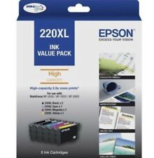 Genuine Epson 220XL 5-ink Value Pack For WF-2630/WF-2650/WF-2660/XP-420