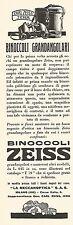 W2194 Binoccoli grandangolari ZEISS - Pubblicità del 1931 - Old advertising