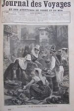 JOURNAL DES VOYAGES 566 de 1888 TENERIFE / BATTUE PORCS MUTTRA / SERPENT de MER