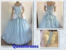 """Cinderella Enchanted Ball Gown Dress & Headband, Adult, Your Size Busts 32"""" - 42"""