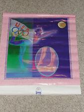 Vintage Usa Gymnast Gymnastics Poster 1996 olympics rings