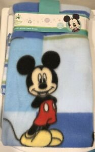 Disney Baby Mickey Mouse Infant Security Blanket Shower Gift Blue Crib Bedding