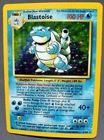 BLASTOISE Pokemon Card 1999 Unlimited  Base Set - 2/102 - Holo RARE - WOTC