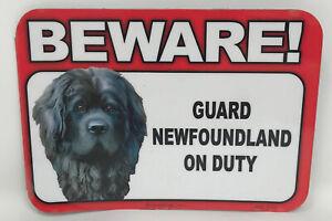 Beware! Guard Miniature Pincher Dog On Duty Magnet Laminated Car Pet 6x4 New