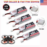 4pc 2S LiPo Battery 300mAh 7.6V 50C JST-PH 2.0 plug for EMAX Tinyhawk S RC Drone