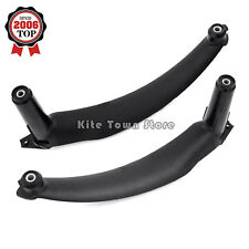 Pair Black Inner Door Panel Handle Pull Trim Cover Left & Right For BMW E70 X5