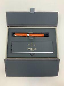 "Parker Duofold Centennial Fountain Pen ""Big Red"" - #87 Oblique (Fine) - Orange"