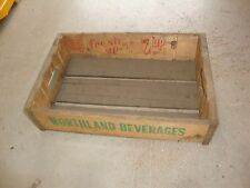 Vintage 1960 Wooden 7UP Soda Pop Bottle Crate Carrier Box