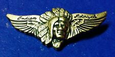 """INDIAN MOTORCYCLE """"SPREAD-WING""""  PIN ~ 1 3/4"""" ~ PINCH CLIP~VERY RARE PRISTINE!"""