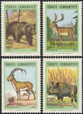 Turquía 1967 jabalí/Ciervo/Oso/Cabra/Juego Animales/Naturaleza/cerdos/caza 4v Set (n45172)