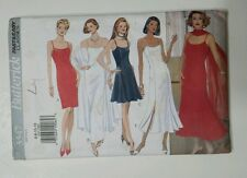 BUTTERICK PATTERN #3347 Elegant Dresses Size 6-12 Fast and Easy Classics Womens