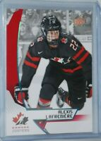 2019 Upper Deck Team Canada Juniors Blue #37 Alexis Lafreniere Pre-Rookie Card