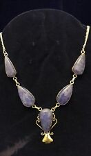 Collana Argento 925 Agata Blu-925 Sterling Silver Agate Necklace