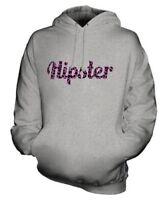 HIPSTER PINK LEOPARD PRINT UNISEX FASHION HOODIE TOP GEEK SWAG MENS LADIES