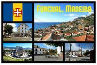 FUNCHAL, MADEIRA (PORTUGAL) - SOUVENIR NOVELTY FRIDGE MAGNET - NEW - LITTLE GIFT