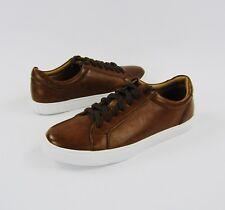 Harrison Myles Men's Dark Tan Faux Leather Fashion Sneaker Shoe Sz 10 *READ* K2