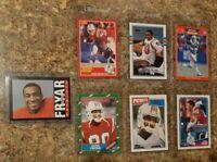 (7) Irving Fryar 1985 Topps Rookie 1986 1987 1988 1989 Score Pro card Lot RC HOF