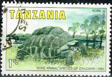 Tanzania Fauna Wild African Animals Kobe Tortoise stamp 1984