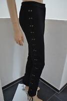 WOLFORD Hose Trousers modisch modern mit Schnürung black schwarz