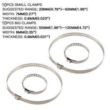 20pcs Car Drive Shaft Axle CV Joint Boot Crimp Clamp Kit Universal 10 Set USA