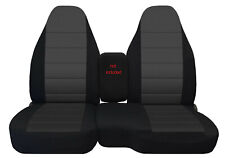 Car Seat Covers Blk-Charcoal Fits 04-2012 Ford Ranger 60/40 High Back Seats
